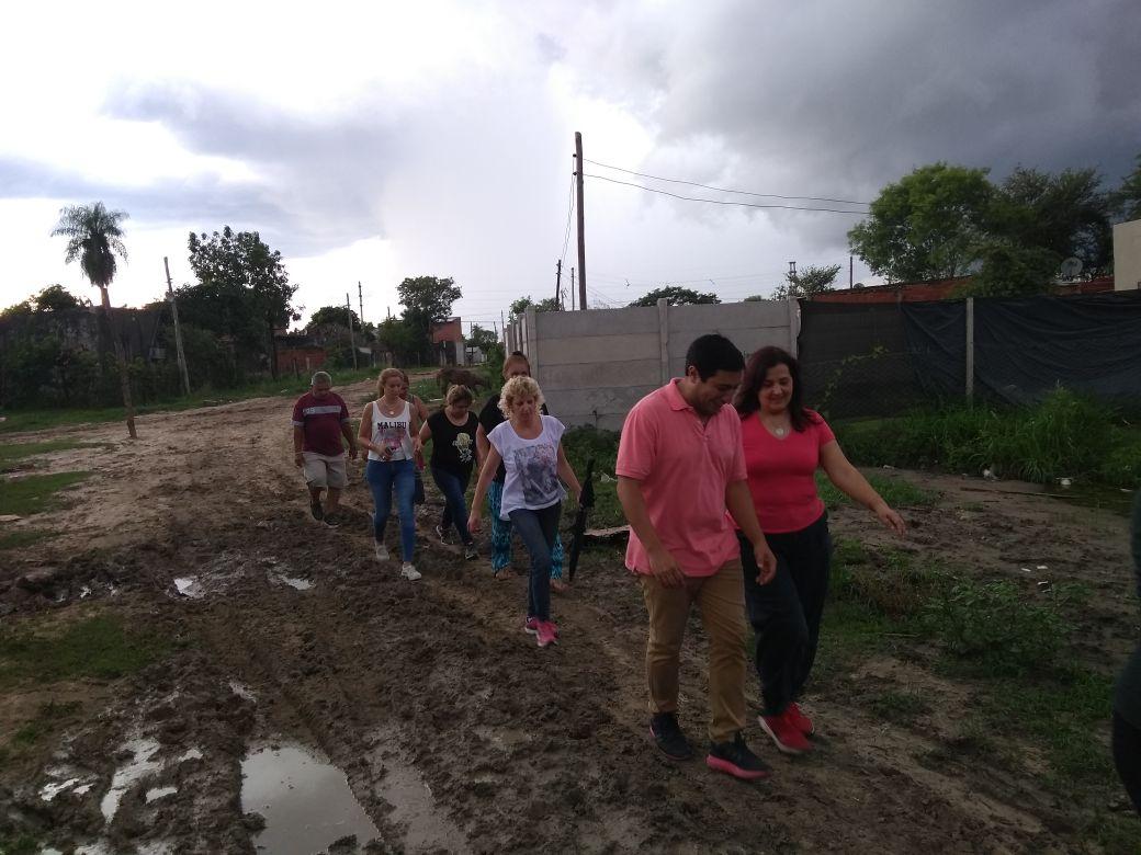 Desarrollo Humano recorrió los barrios Patono, Santa Marta y Bañado Sur