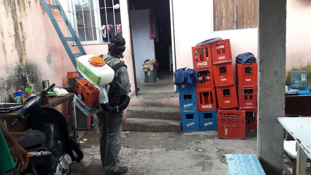 Dengue: Salud Pública realizó bloqueos vectoriales en la Capital