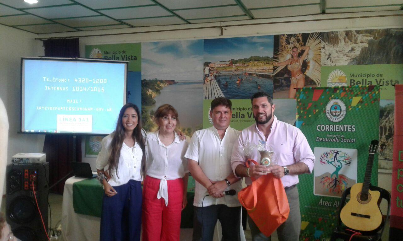 Desarrollo Social junto con SEDRONAR realizó un Taller  de Prevención en Ámbitos Deportivos y Artísticos