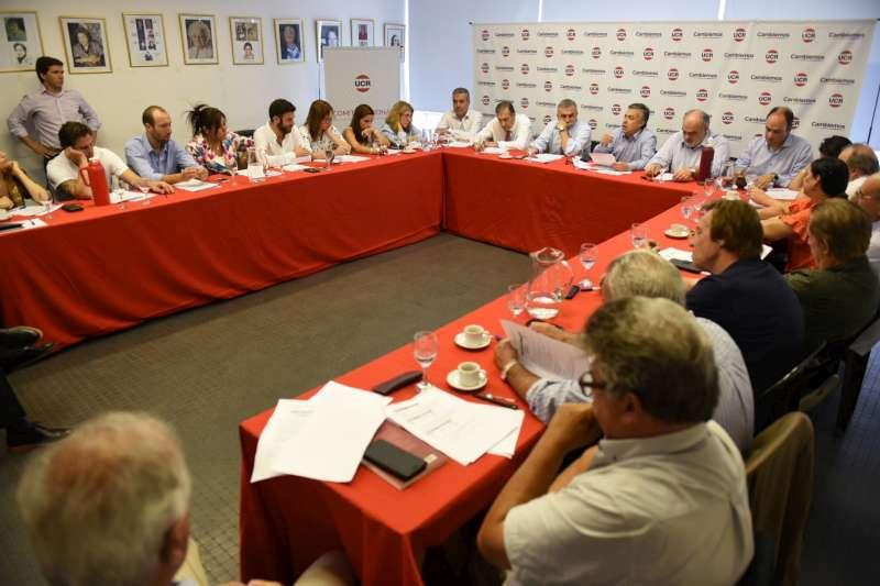 Macri recibió a Cornejo como presidente de la UCR y a los integrantes del Comité Nacional