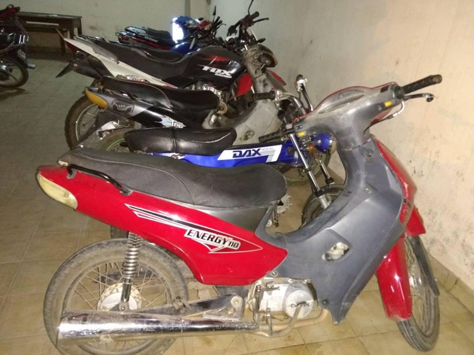 En diferentes procedimientos demoran a varias personas y secuestran  motocicletas
