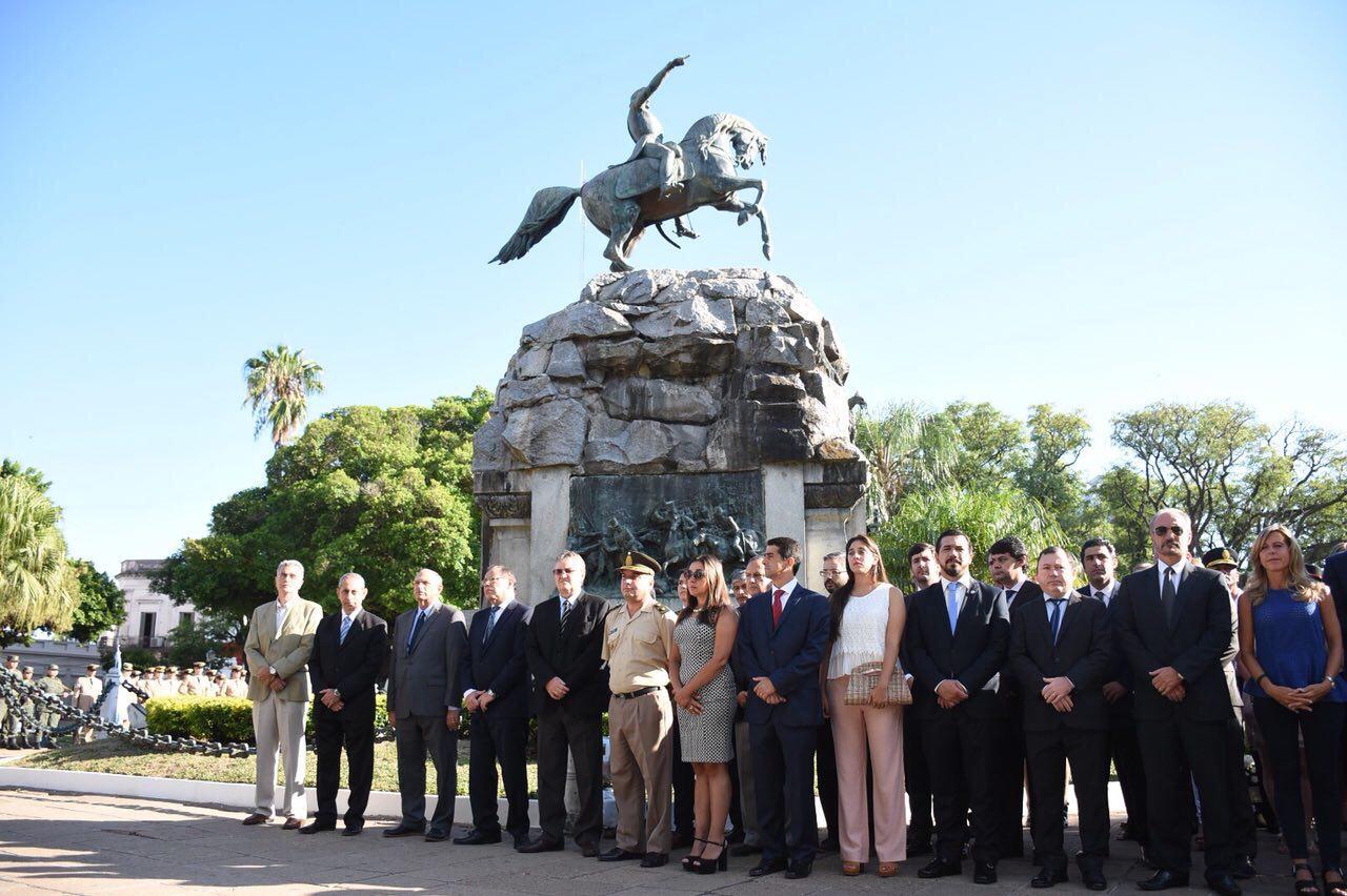 Tassano encabezó el acto que recordó el 240 Aniversario del Nacimiento del general San Martín