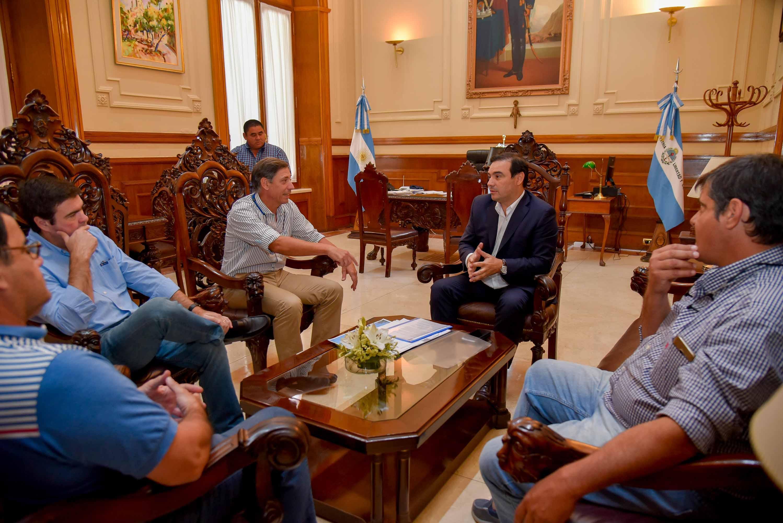 El gobernador Valdés recibió a la Sociedad Rural  de Bella Vista y le trasmitió apoyo