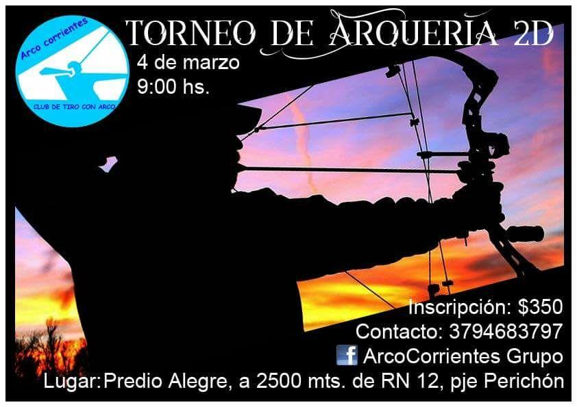 """Se realizará el primer torneo """"2D"""" de Arco Corrientes"""