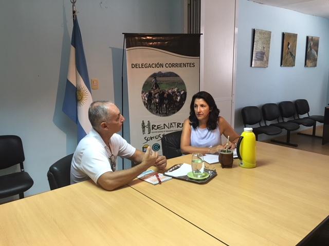 Renatre Corrientes se reunió con la SENAF