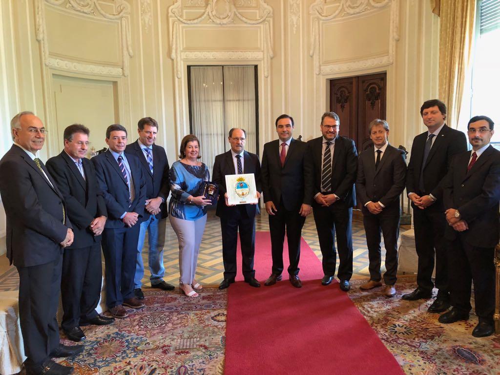 El gobernador Valdés se reunió  con su par de Río Grande do Sul