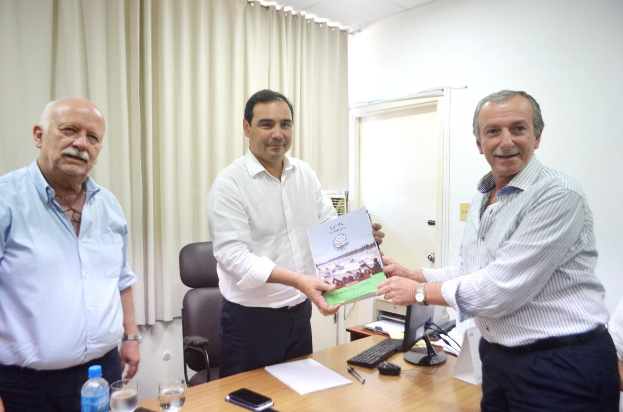 El Gobernador de Corrientes recibió al presidente de la COMUPE Goya