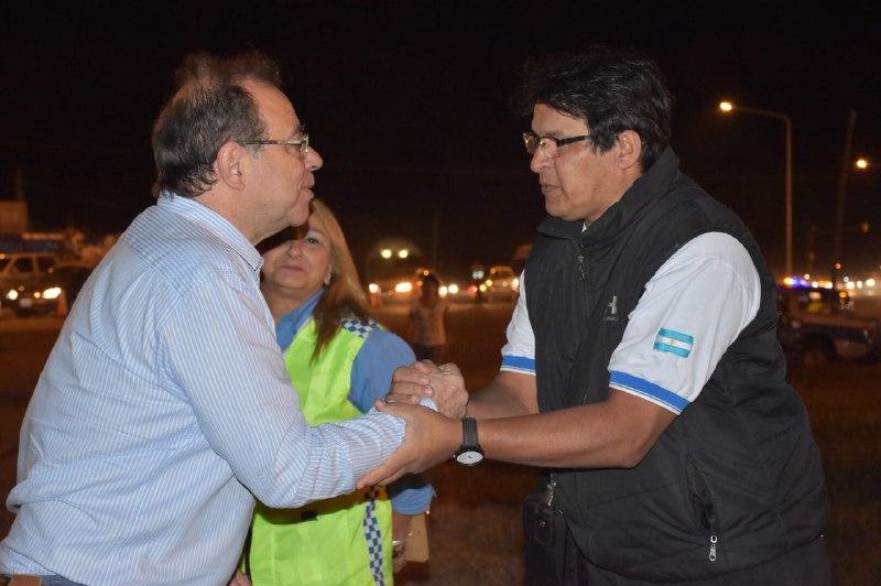 El Intendente supervisó el operativo de tránsito para los carnavales
