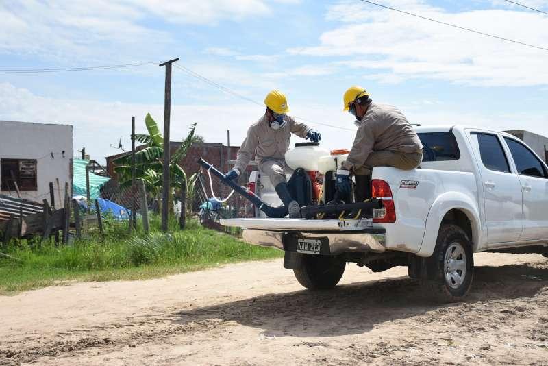 La Municipalidad realiza operativo de control de plagas en barrios afectados por la lluvia