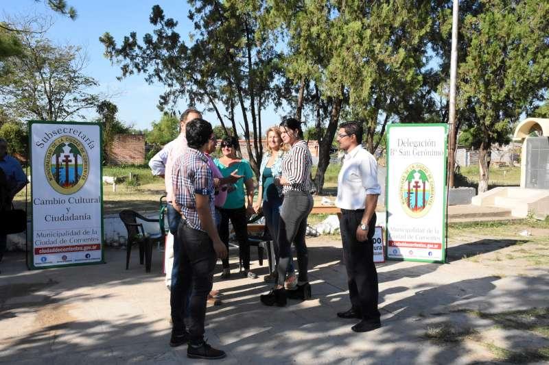 Las delegaciones móviles llegaron al barrio Popular