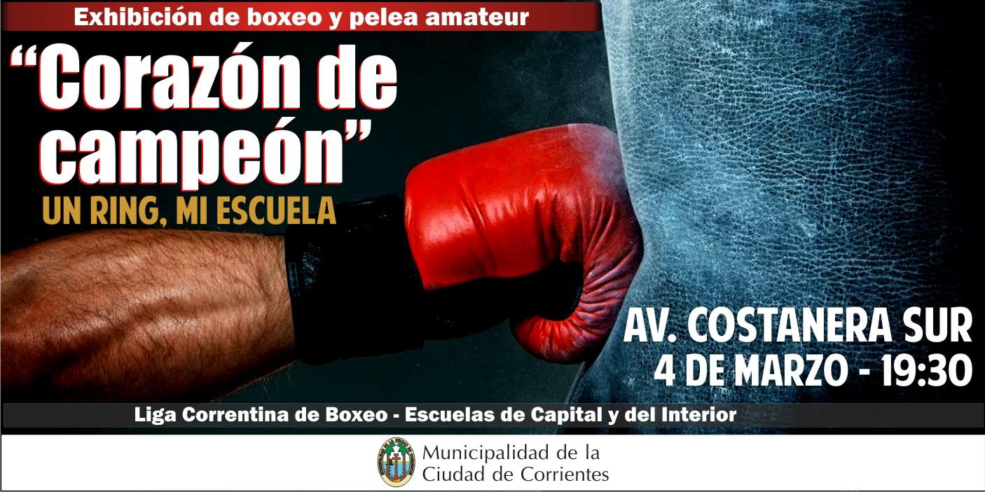 Exhibición de boxeo en Costanera Sur