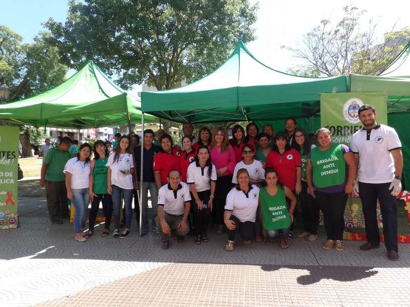 Salud Pública realiza tareas de prevención y testeos en plaza Vera