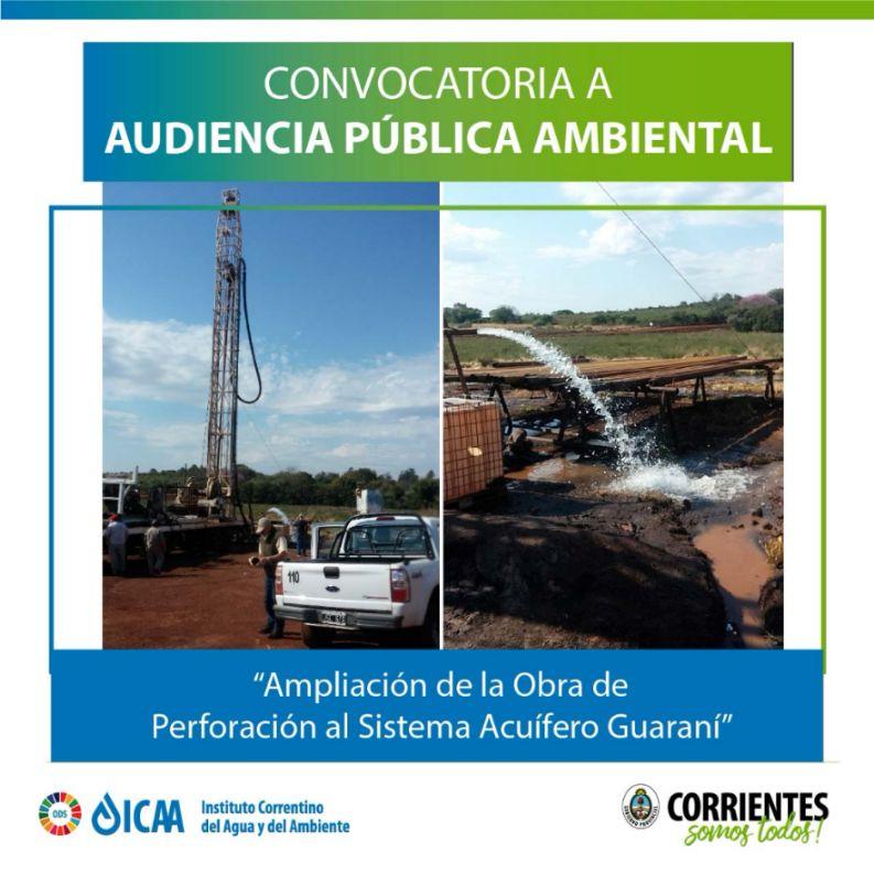 El ICAA convoca a audiencia pública para pozos de perforación en Virasoro