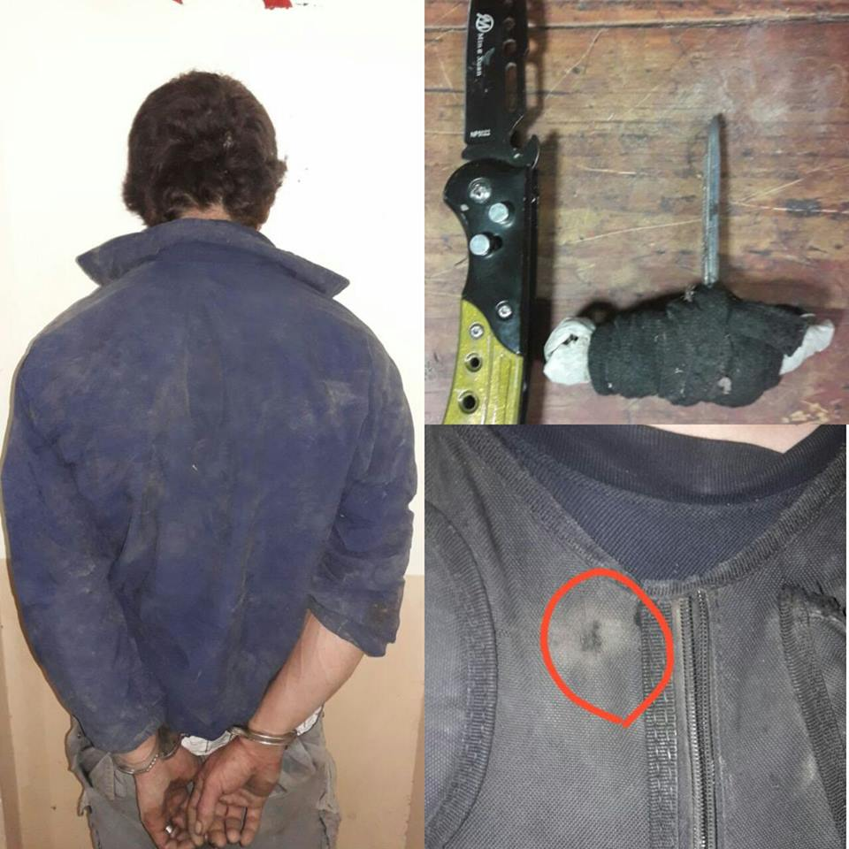 Demorado con pedido de captura quien además agredió a un funcionario Policial con un arma blanca