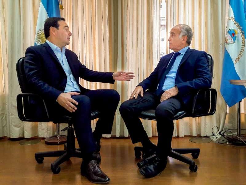 Valdés se reunió con el vicegobernador de Buenos Aires