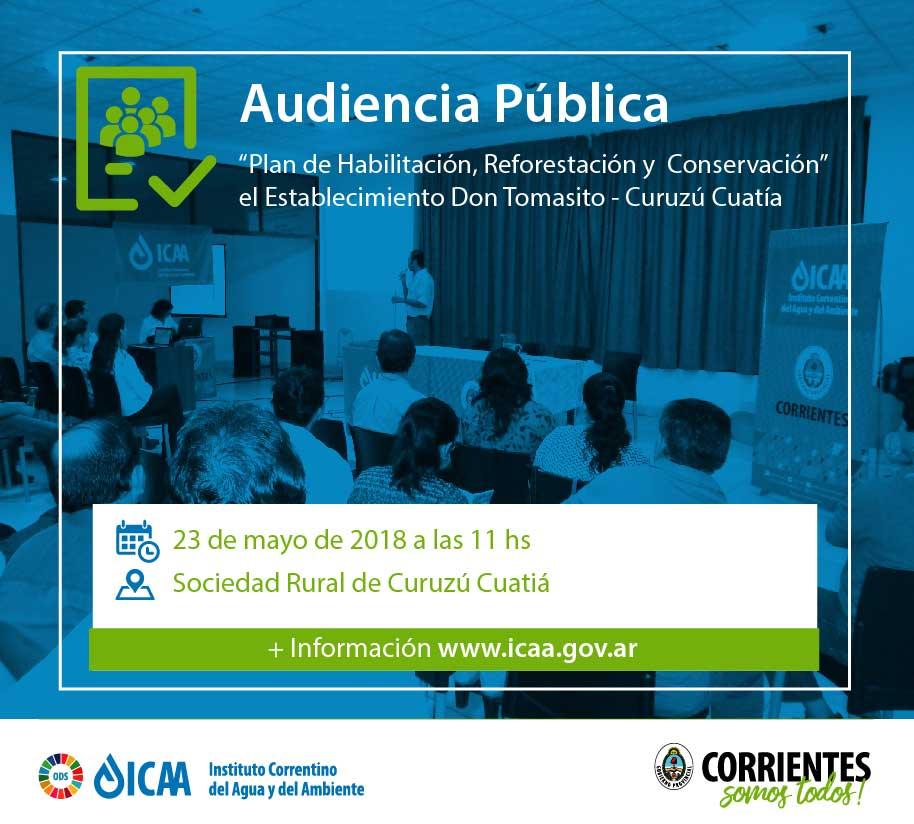Convocan a audiencia ambiental para proyecto en Curuzú Cuatiá