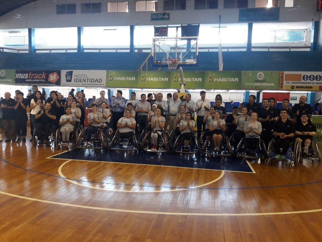 Nación, Provincia y Municipio apoyan al básquet adaptado de Corrientes