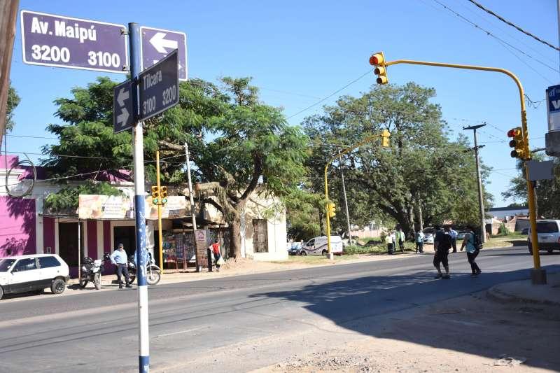 Habilitaron nuevos semáforos en el cruce de Maipú y Tilcara