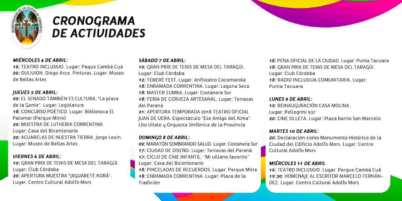 Actividades culturales, artísticas y deportivas organizadas por la Municipalidad para compartir en familia los próximos días