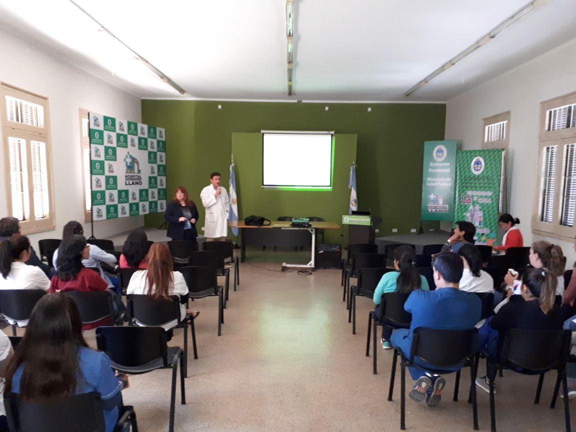 Salud Pública realizó una capacitación sobre Tuberculosis en el Hospital Llano