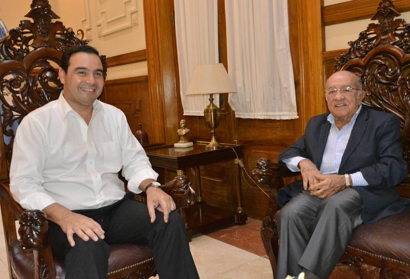 """""""Pocho"""" Romero Feris visitó al gobernador Valdés y  lo felicitó por su amplitud y defensa del federalismo"""