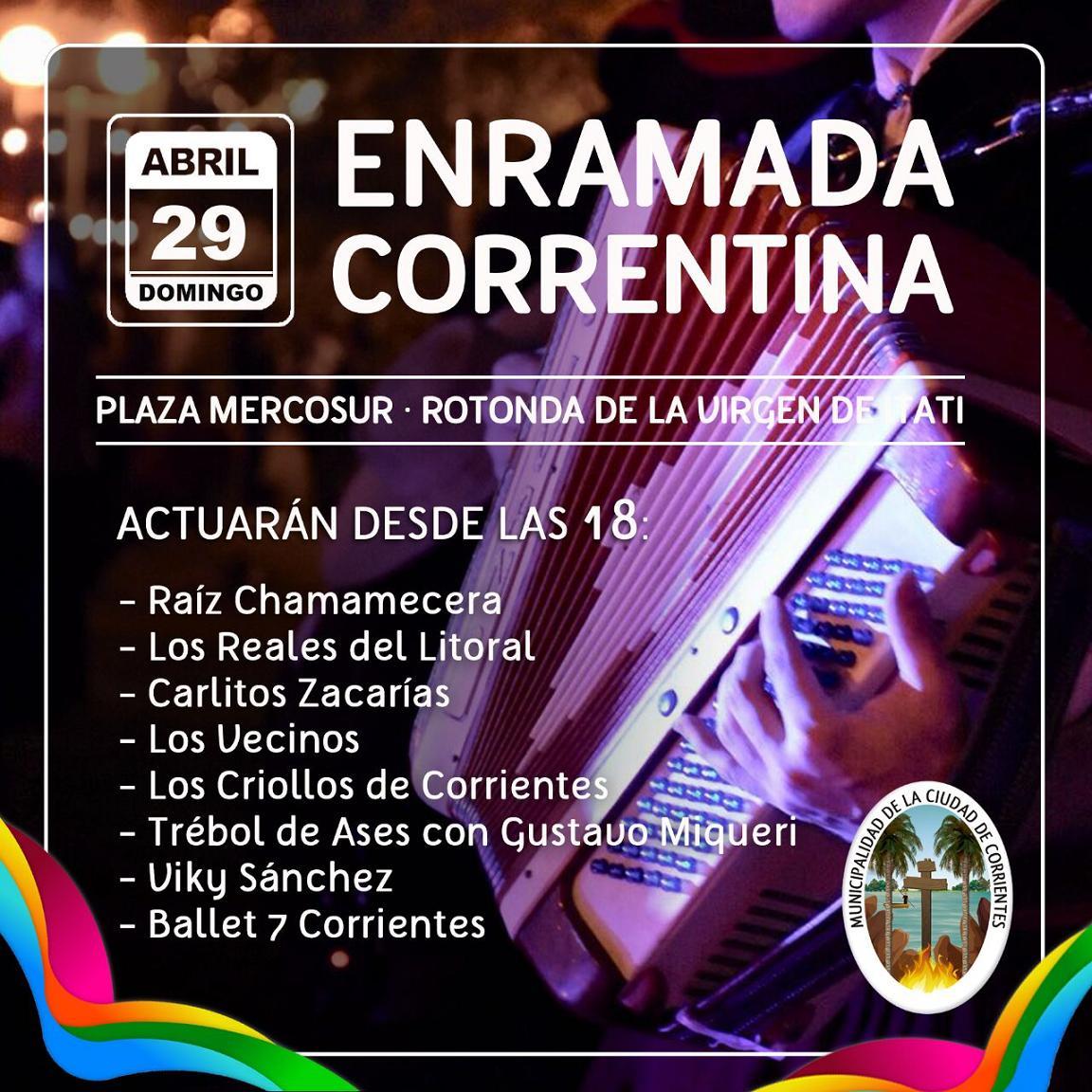 La Enramada Correntina, este domingo en la plaza del Mercosur