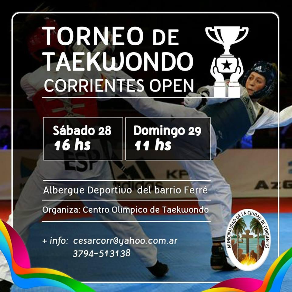 Torneo de taekwondo Corrientes Open