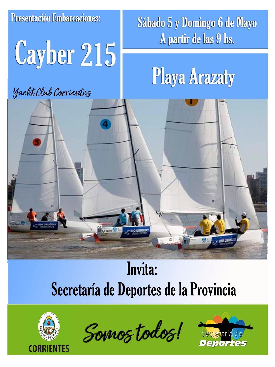 Yachting: Este fin se semana presentan las embarcaciones Cayber 215