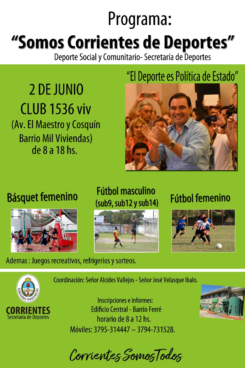 """Este sábado 2 de junio  inicia el programa """"Somos Corrientes de Deportes"""""""