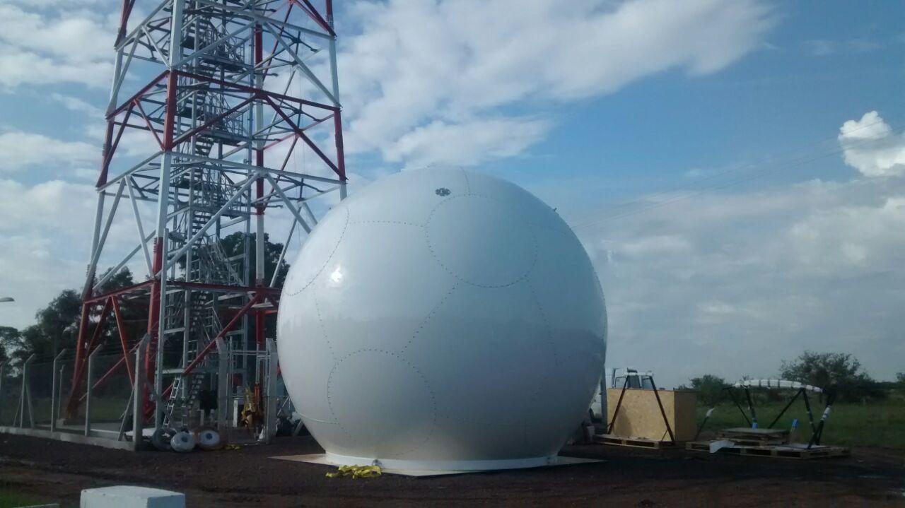 Se efectúa  el armado del Radar Meteorológico