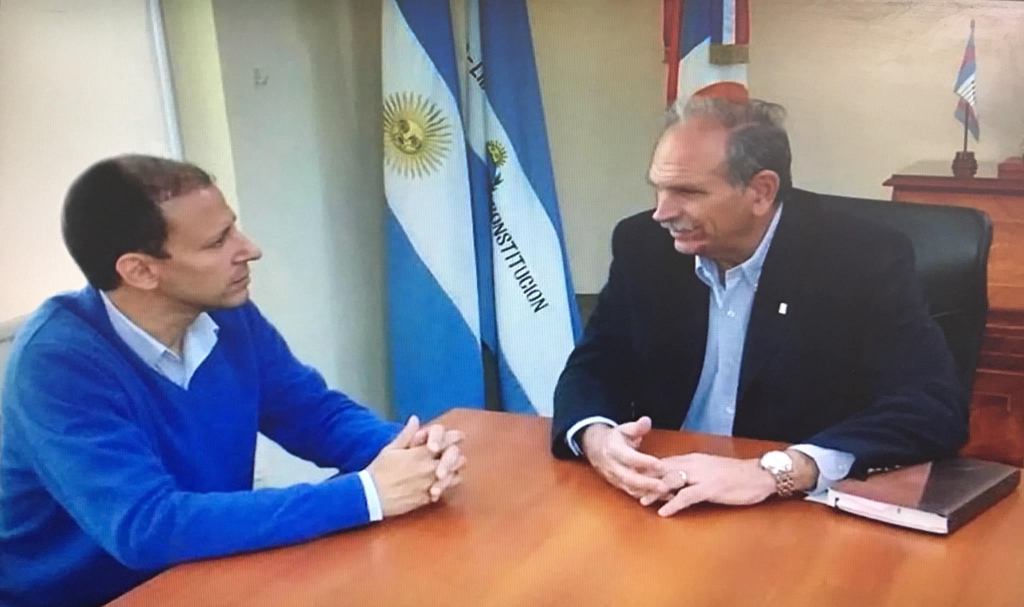 El Defensor del Pueblo con el Vice Intendente Emilio Lanari