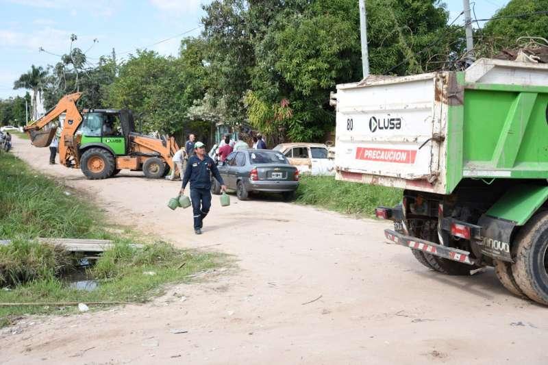 Equipos de la Provincia y la Municipalidad reforzaron operativos