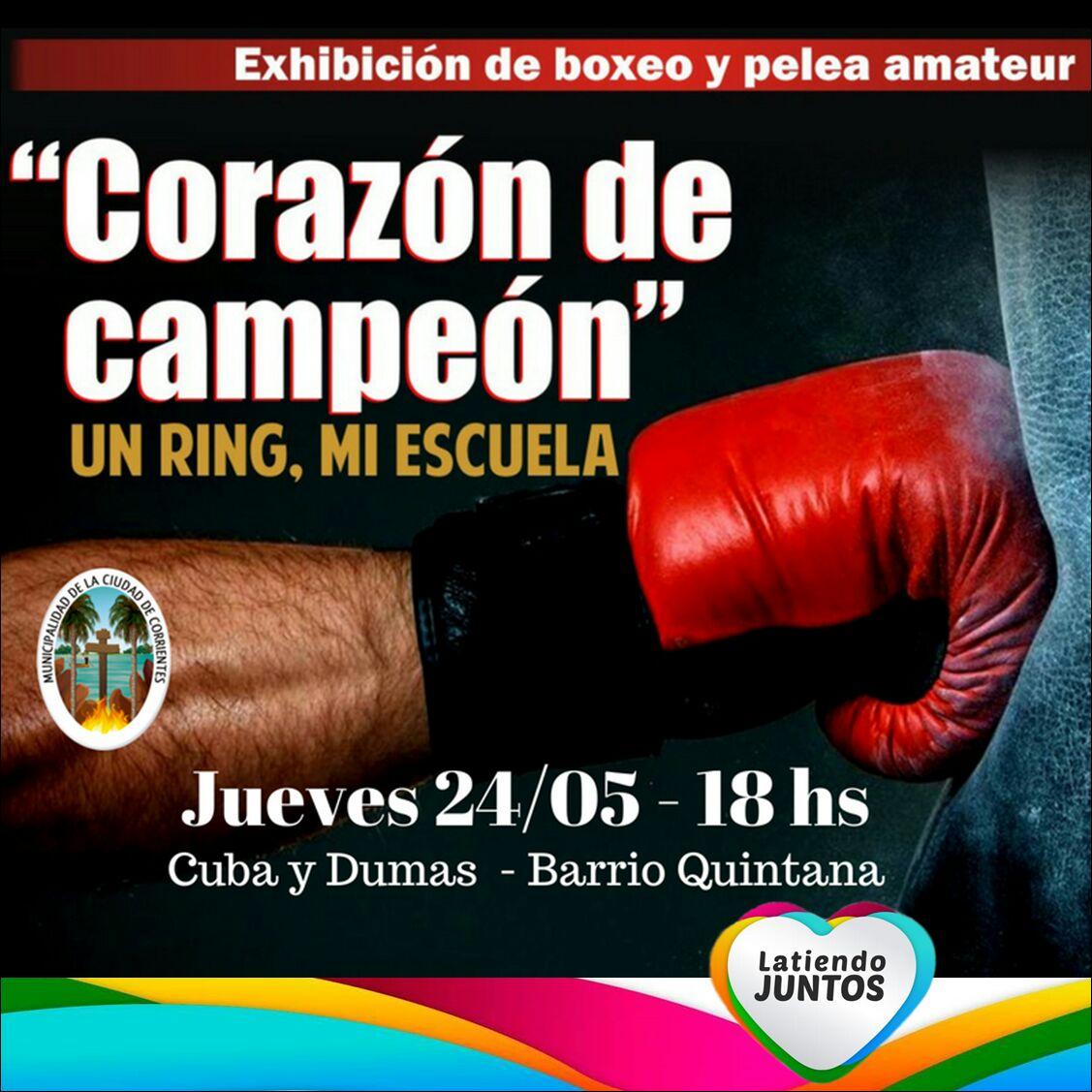 El programa Corazón de Campeón, en el barrio Quintana