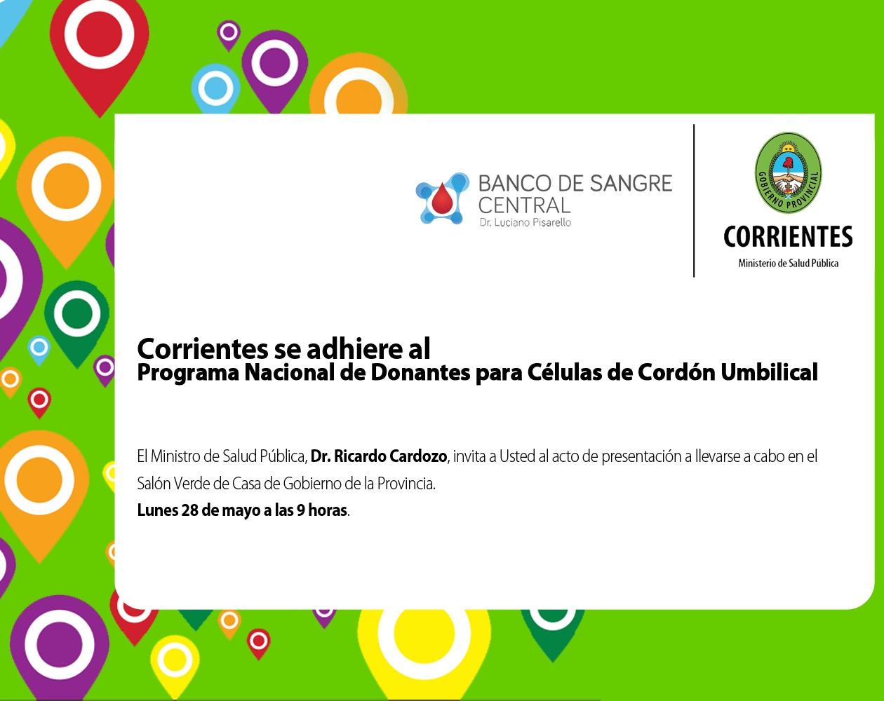 En Corrientes, las embarazadas podrán inscribirse como Donantes de Sangre de Cordón Umbilical