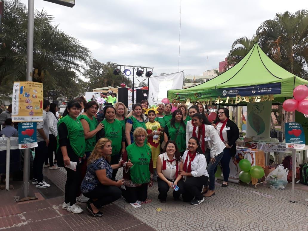 Se realizó una jornada de concientización  sobre la donación de órganos en la Plaza Vera
