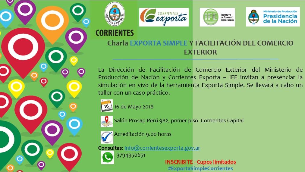 Charla sobre el Régimen de Exportación Simplificada