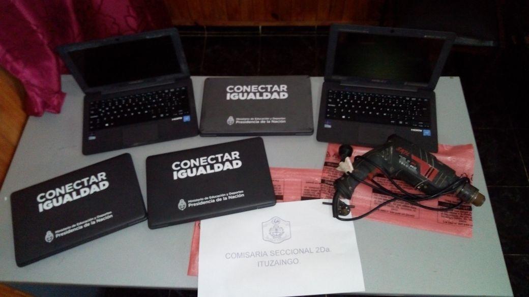Dos menores detenidos por el robo de notebooks
