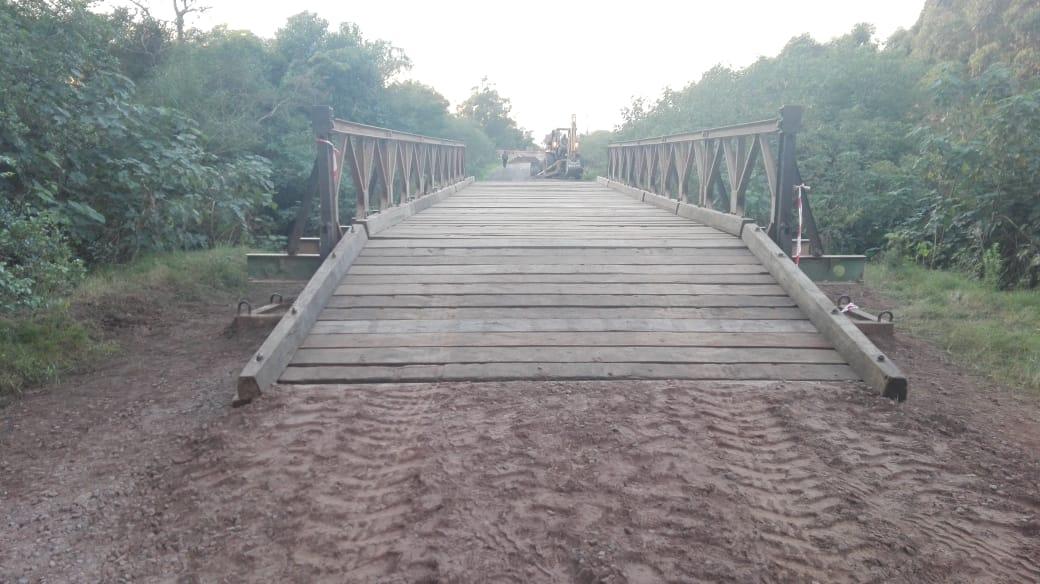Vialidad Provincial concluyó con la colocación del puente Bailey