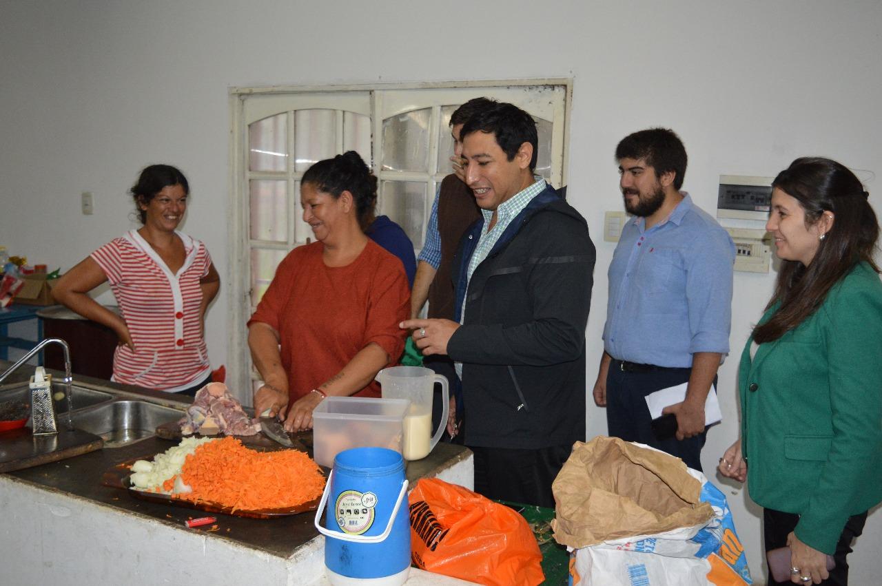 Comedores Comunitarios de Monte Caseros recibieron la visita de Desarrollo Social