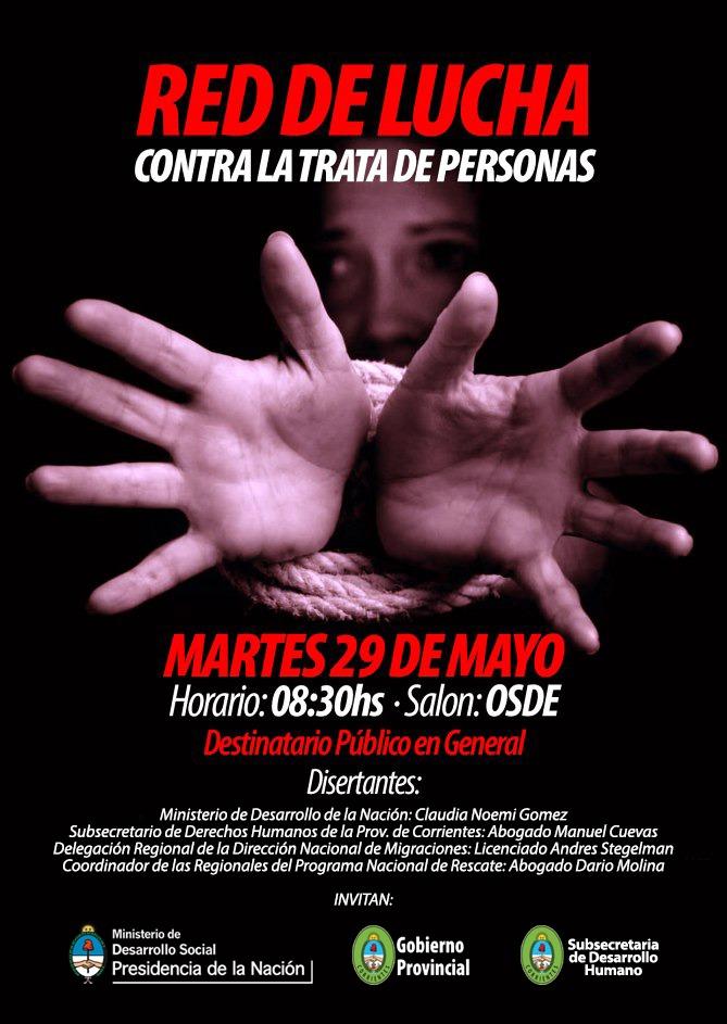 """Nación y Provincia  dictan Charla """"Red de Lucha contra la trata de personas"""""""
