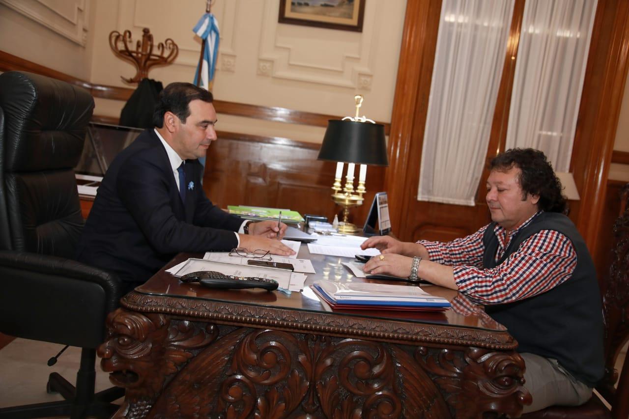 Mano de obra: Valdés y el secretario general de la UOCRA analizaron diversos proyectos
