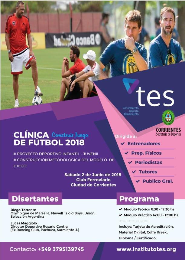 """Se viene la """"Clínica de Fútbol 2018 – Construir Juegos"""""""