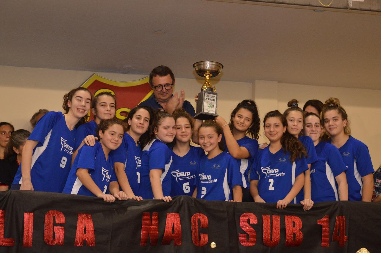 Acto de premiación de la Liga Nacional de Cestoball Sub 14 Femenino