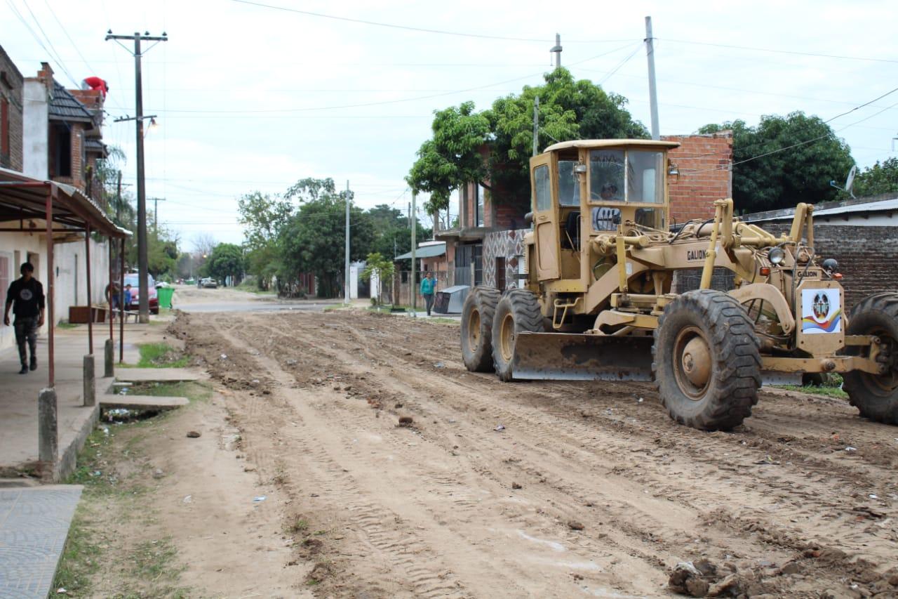 Reconstrucción total de calles de tierra en distintos puntos de la ciudad