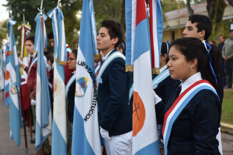 Tassano celebró el Día de la Bandera con la restauración del paseo Belgrano