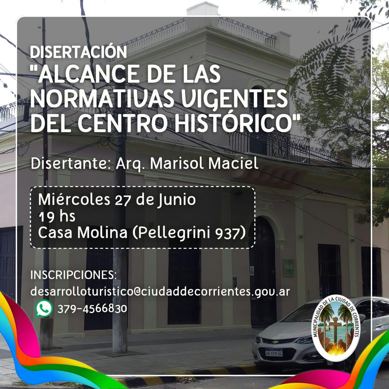 """Disertación """"Alcance de las normativas vigentes del centro histórico"""""""