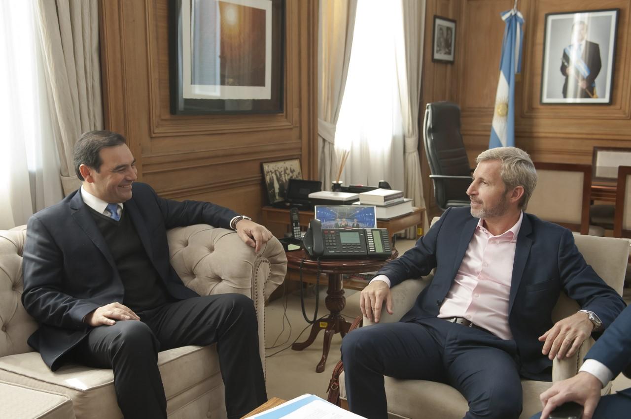 Valdés se reunió con el ministro Frigerio y abordaron una agenda de temas para Corrientes