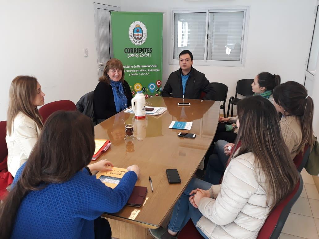 Desarrollo Social se reunió con el R.U.A Corrientes