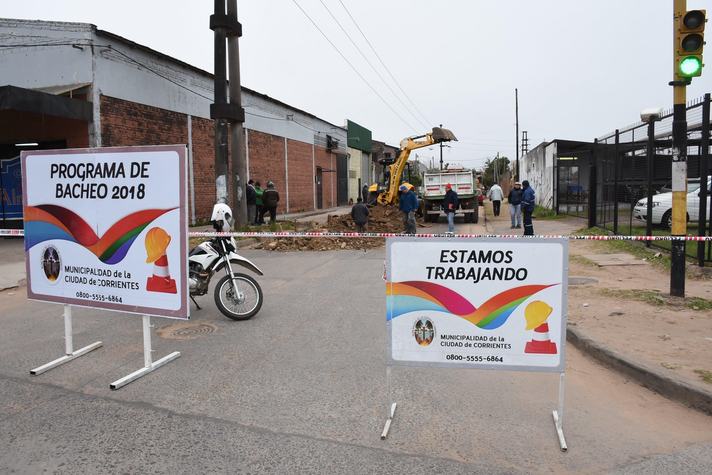La Municipalidad empezó a reparar la calle Medrano