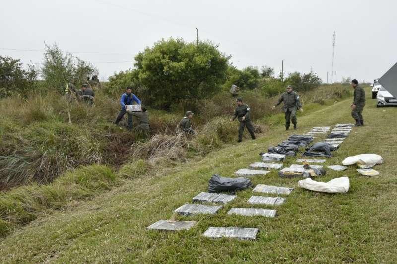 Encuentran más de 600 kilos de marihuana ocultos entre malezas
